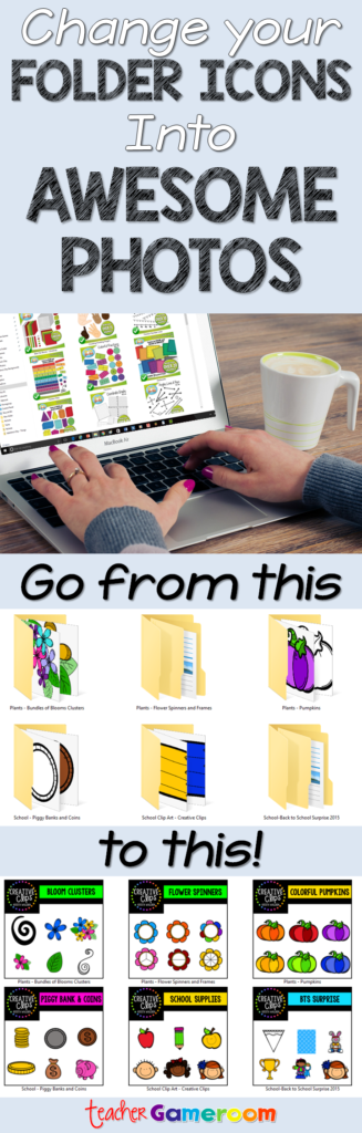 Change folder icons to Awesome icons! - Pinterest Pin