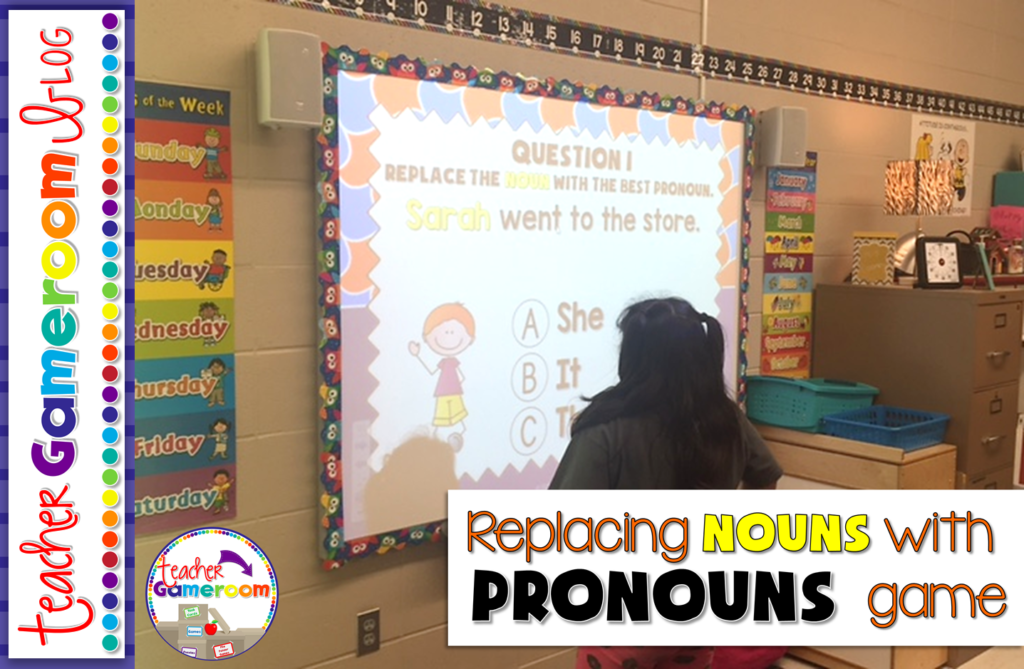 Replacing Nouns with Pronouns Powerpoint Game