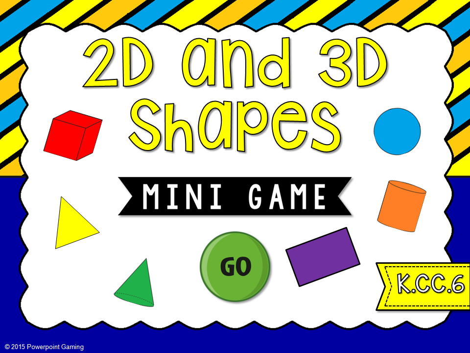 2D and 3D Shapes Mini Game