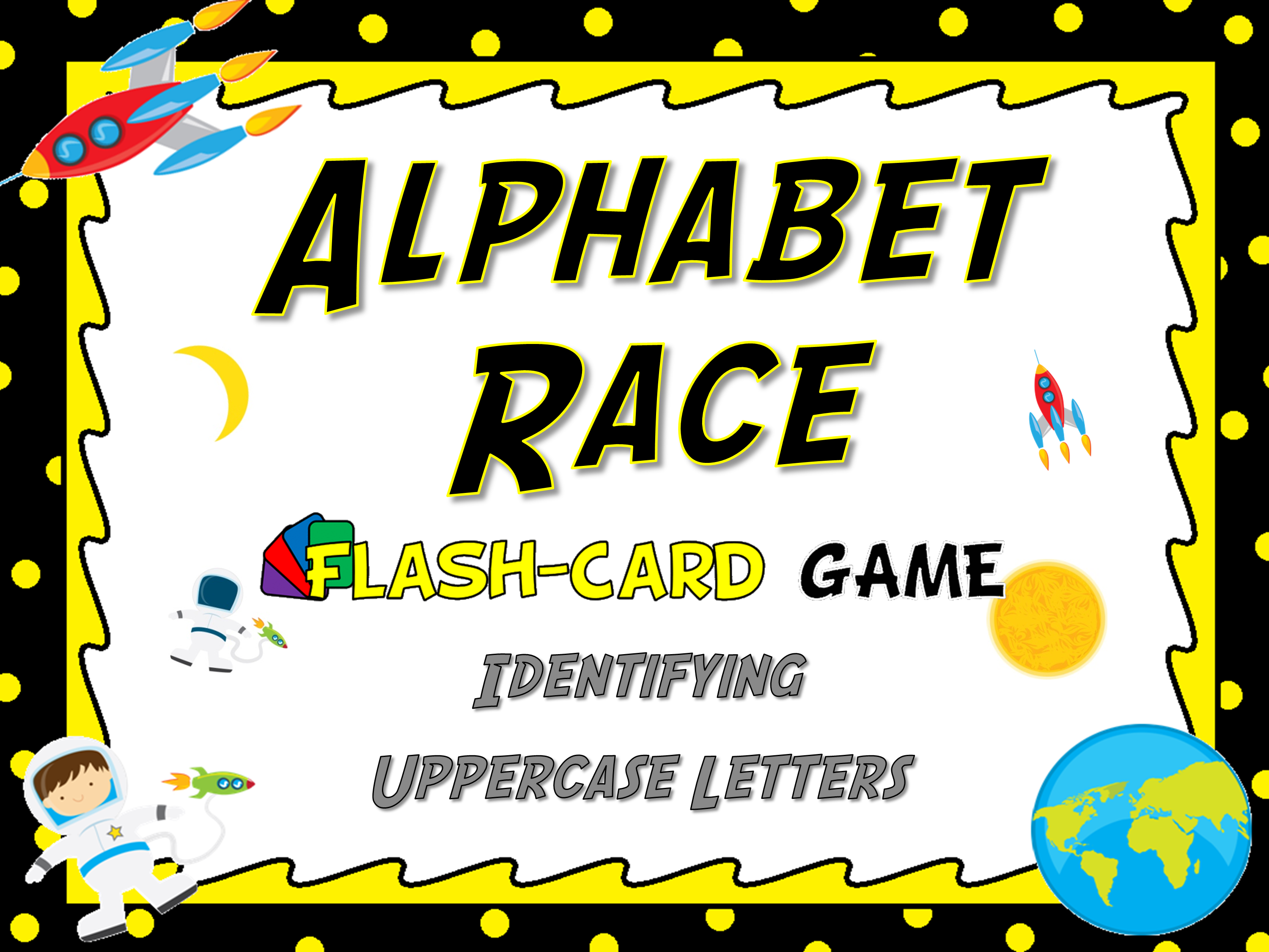 Identifying Uppercase Letters Flash Card Game
