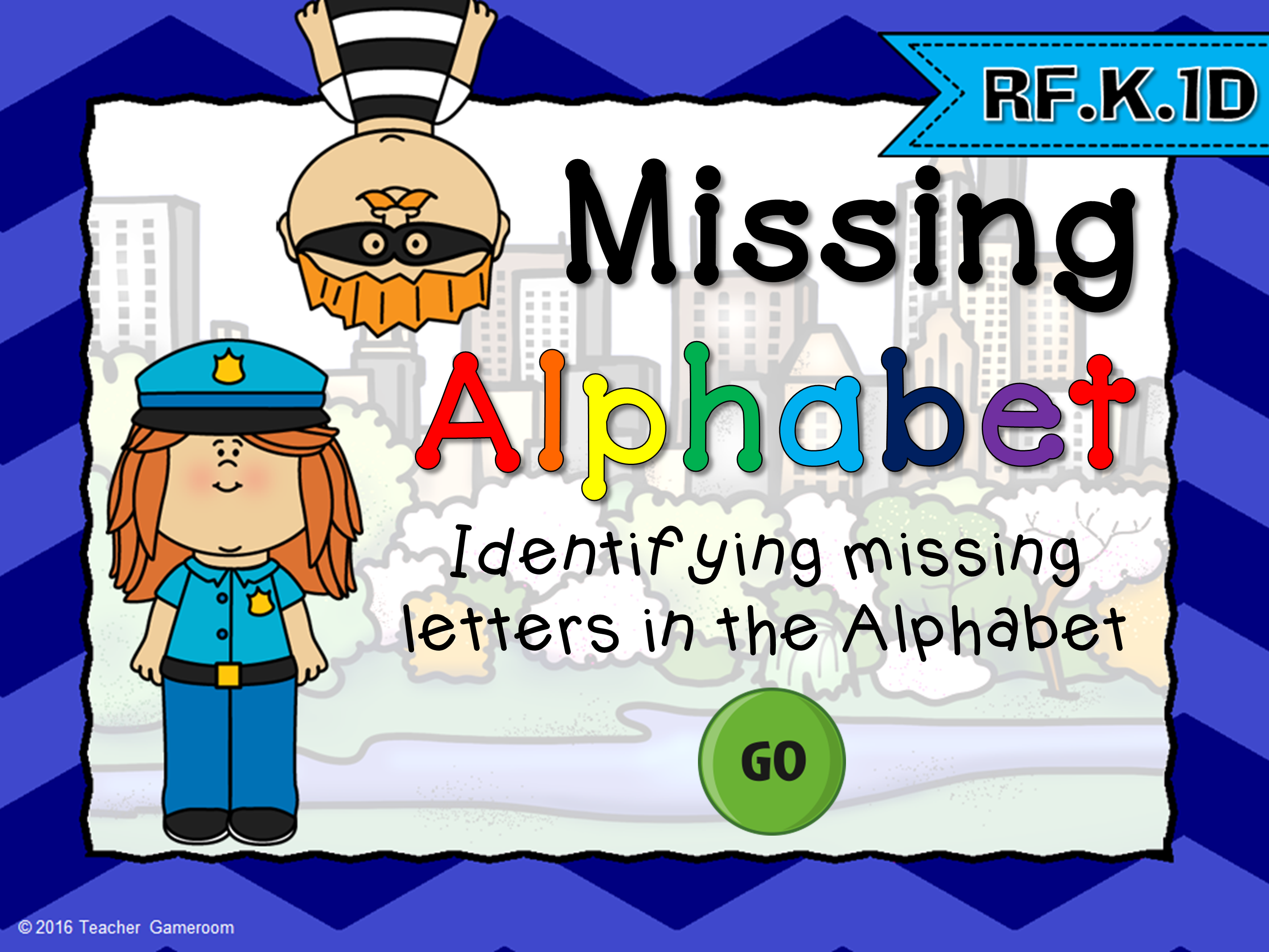 Missing Alphabet Cops vs Robbers Game