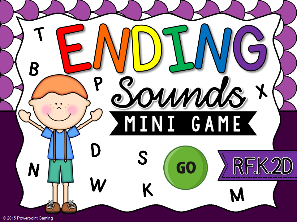 Ending Sounds Mini Game
