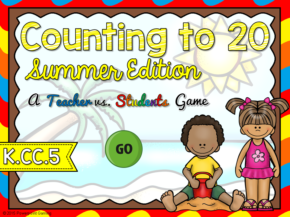Counting to 20 Summer Teacher vs Student Game
