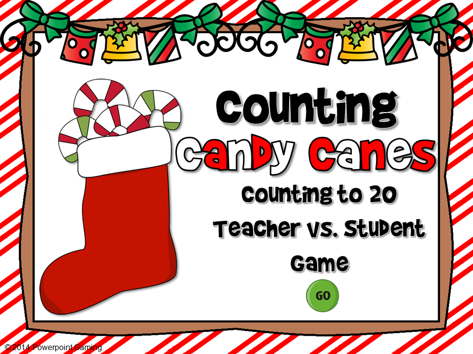 Counting Candy Canes Teacher vs Student Game