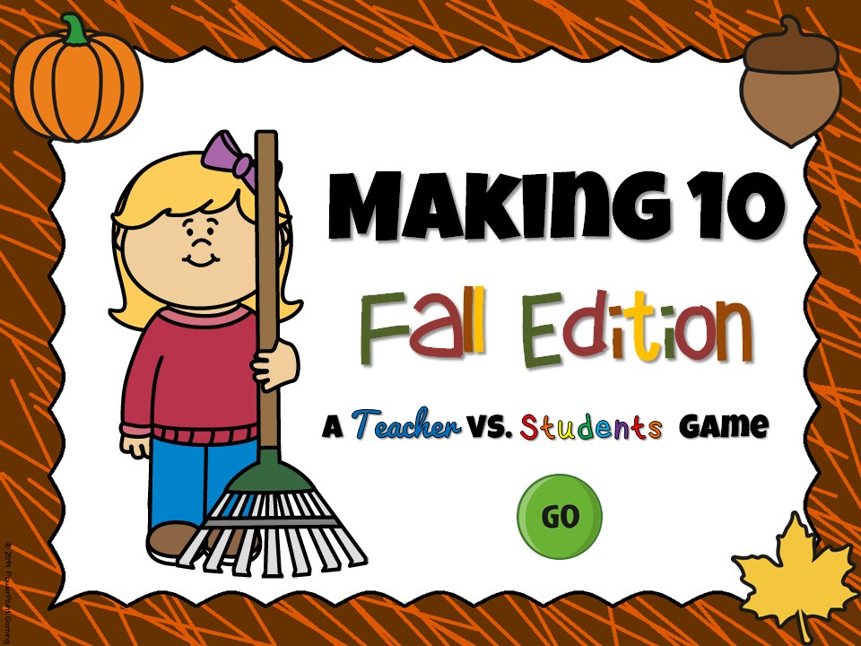 Making 10 Fall Powerpoint Game