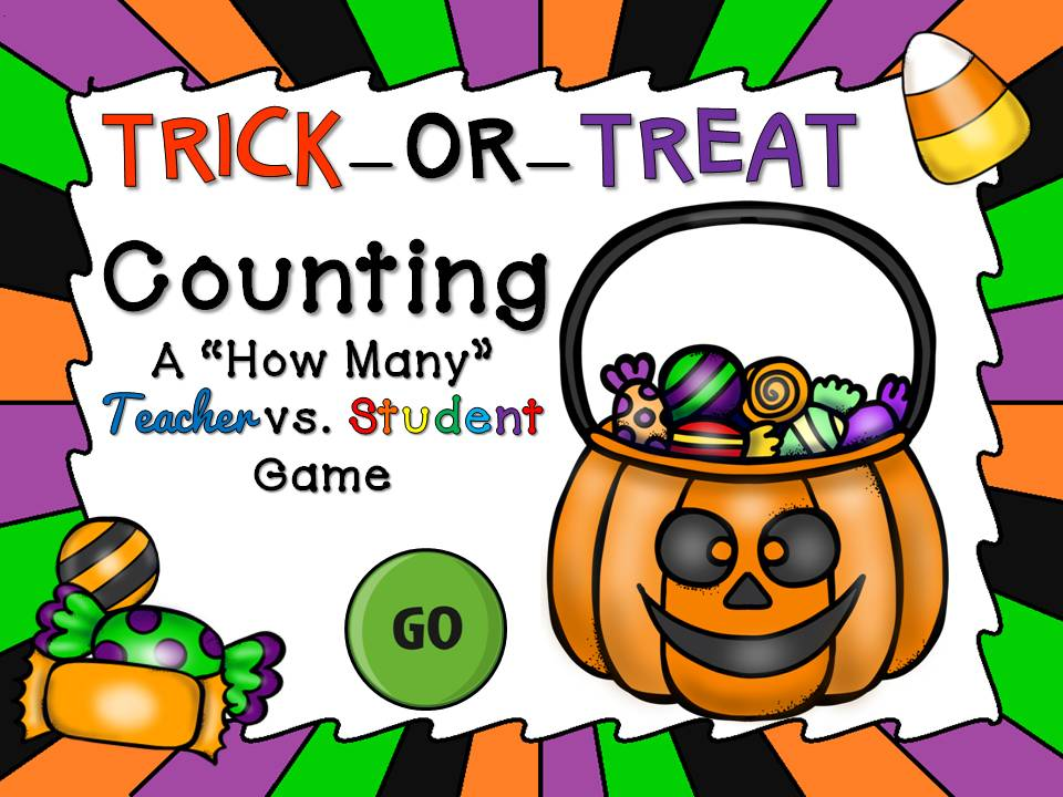 Trick or Treat Counting Candy Teacher vs Student Game