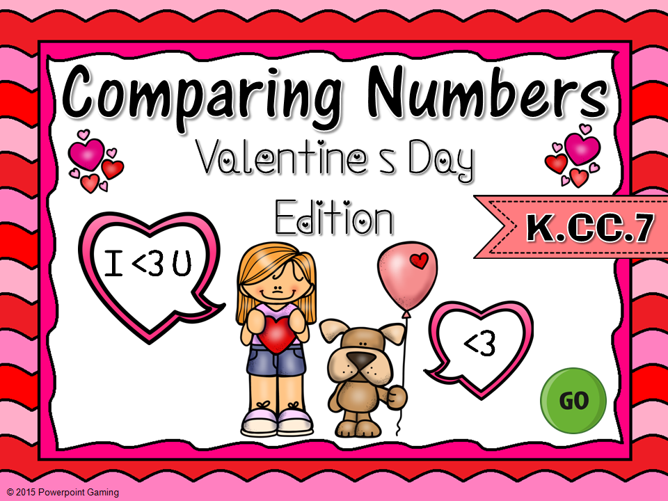 Comparing Numbers Valentine's Game