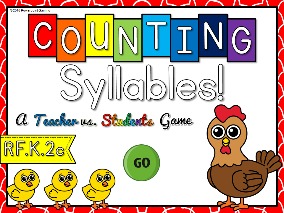Counting Syllables Teachervs Student Game