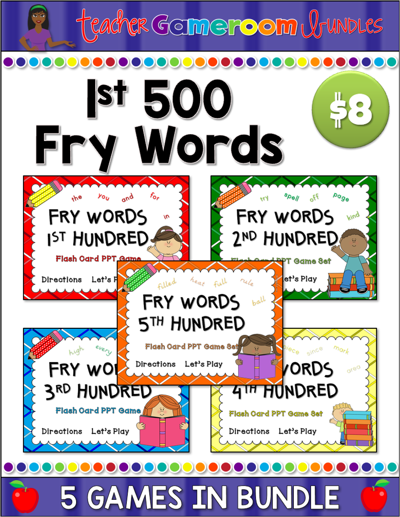 Bundle - 1st 500 Fry Words Flash Cards Cover