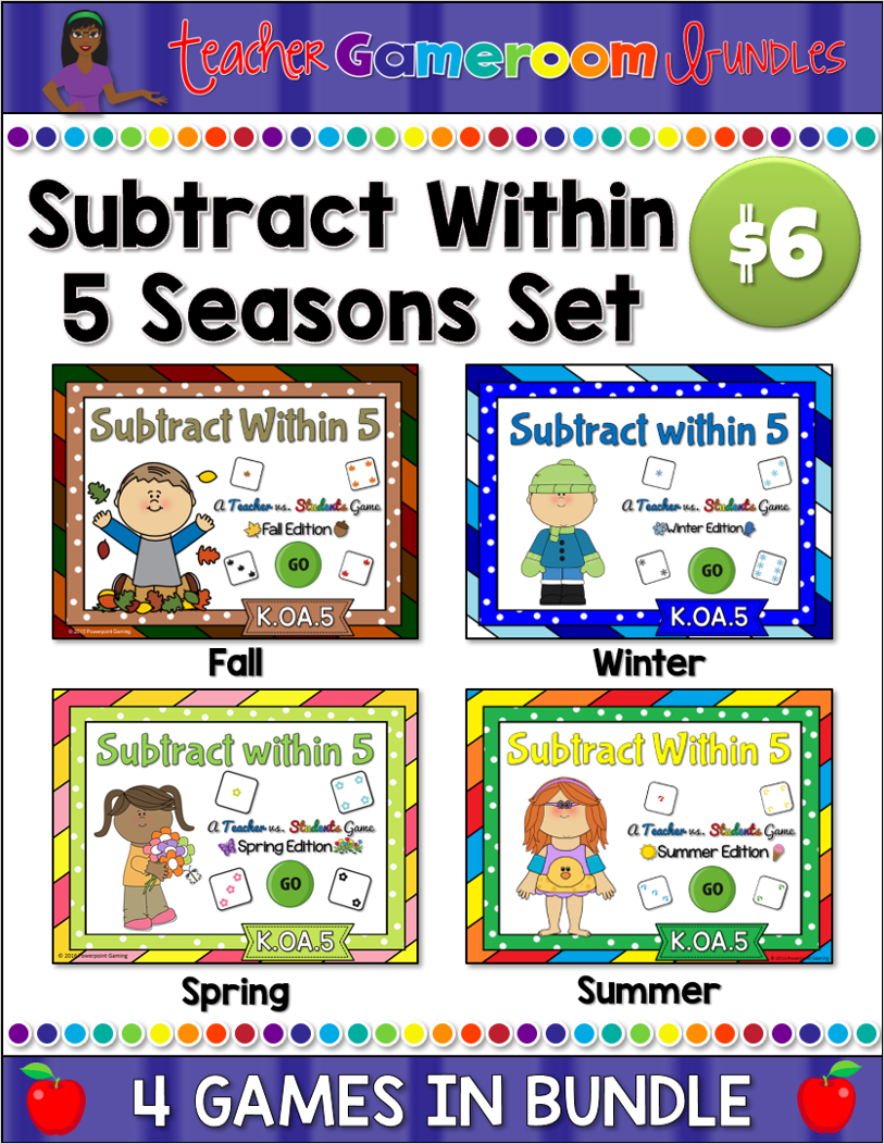 Subtracting With 5 - Seasons Bundle