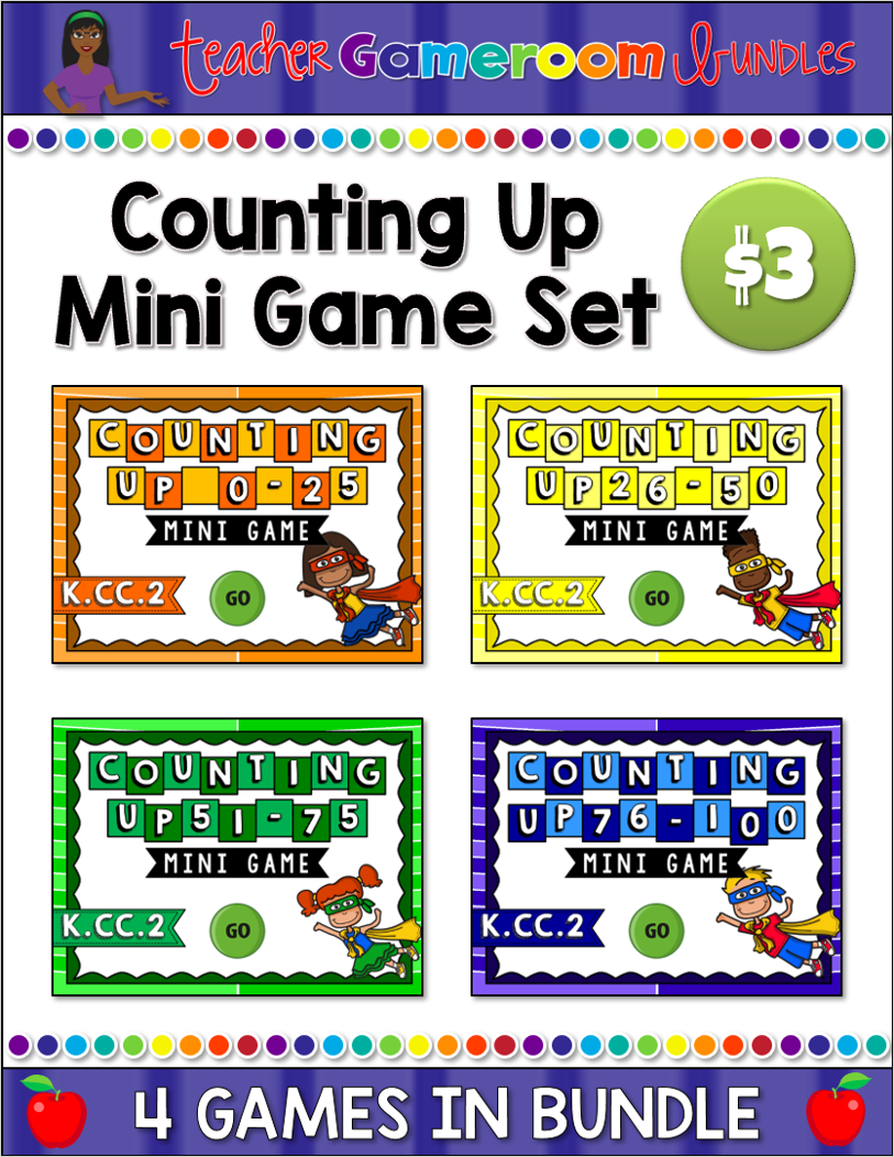 Counting Up to 100 Mini Game Set