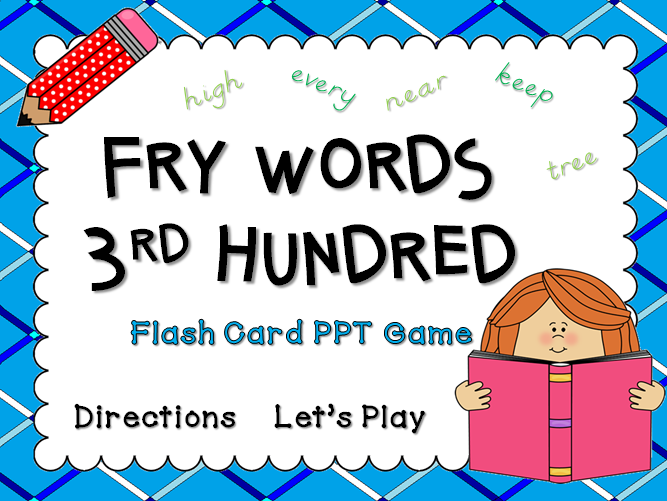 Fry Words 3rd Hundred Words Flash Card Game
