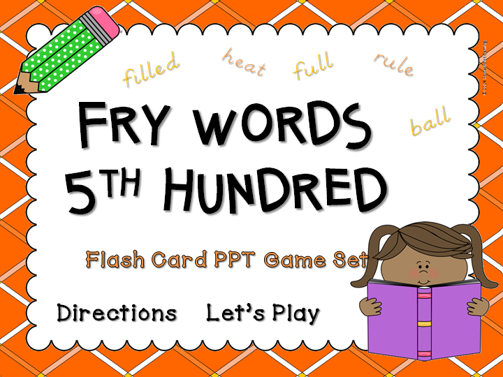 Fry Words 5th Hundred Words Flash Card Game