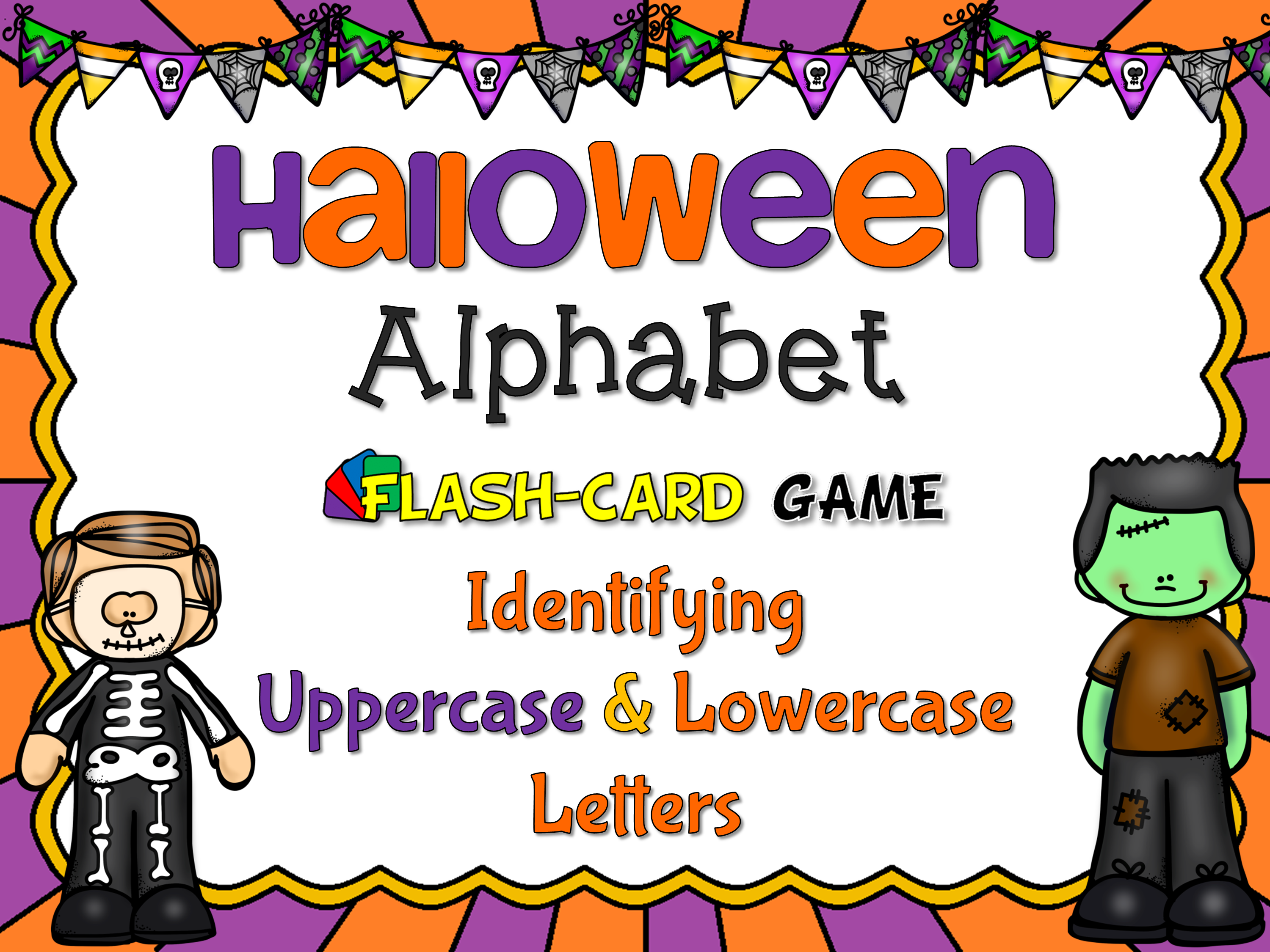 Halloween Uppercase and Lowercase Flash Card Set