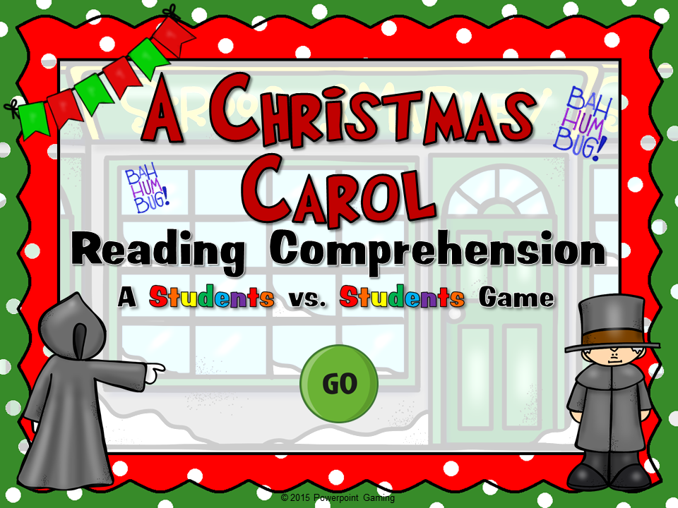 A Christmas Carol Reading Comprehension Student vs Student Game