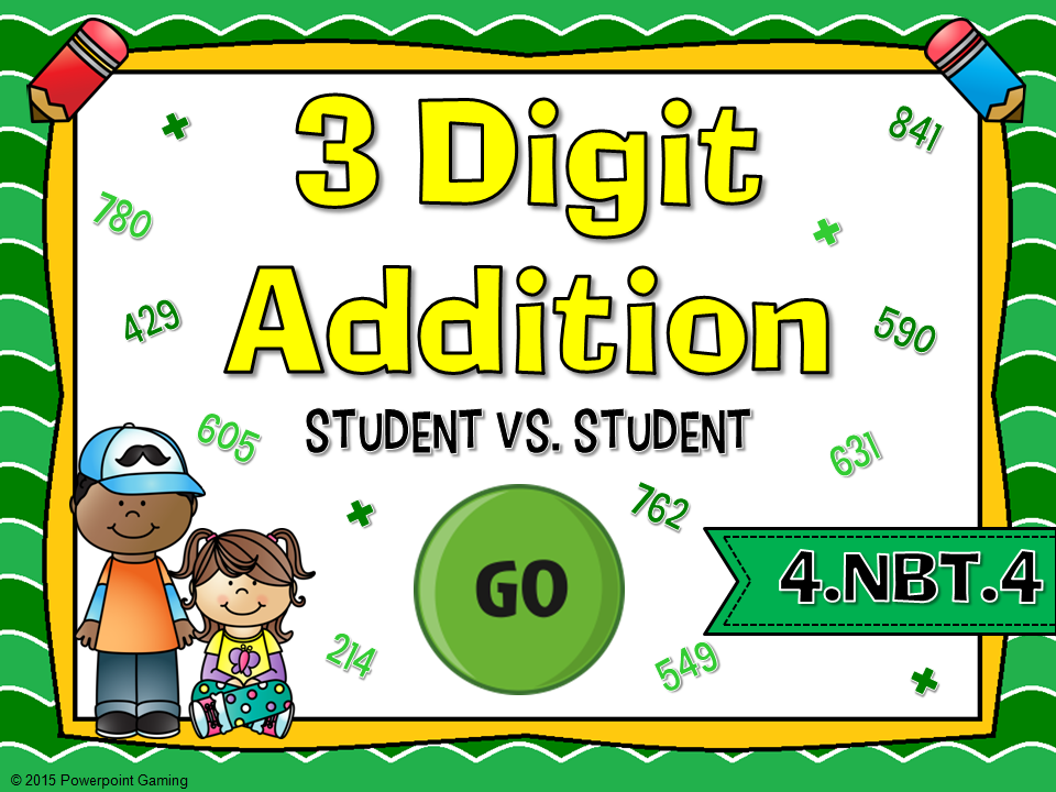 3 Digit Addition Student vs Student Game