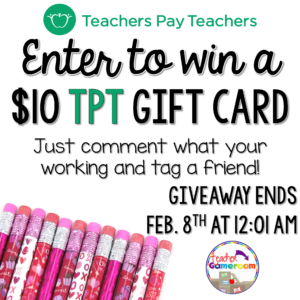 TPT Sale Giveaway Feb. 2017