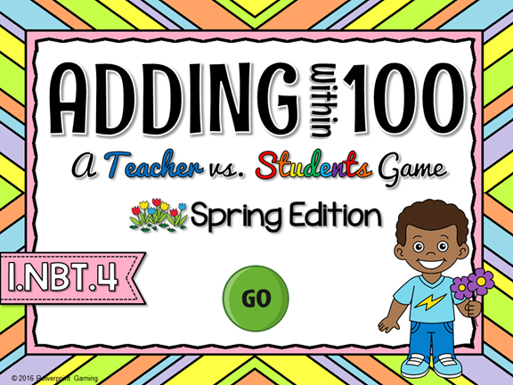 Adding Within 100 Spring Teacher vs Student Game