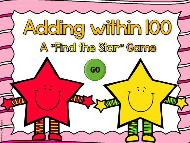 Adding within 100 Find the Star Game