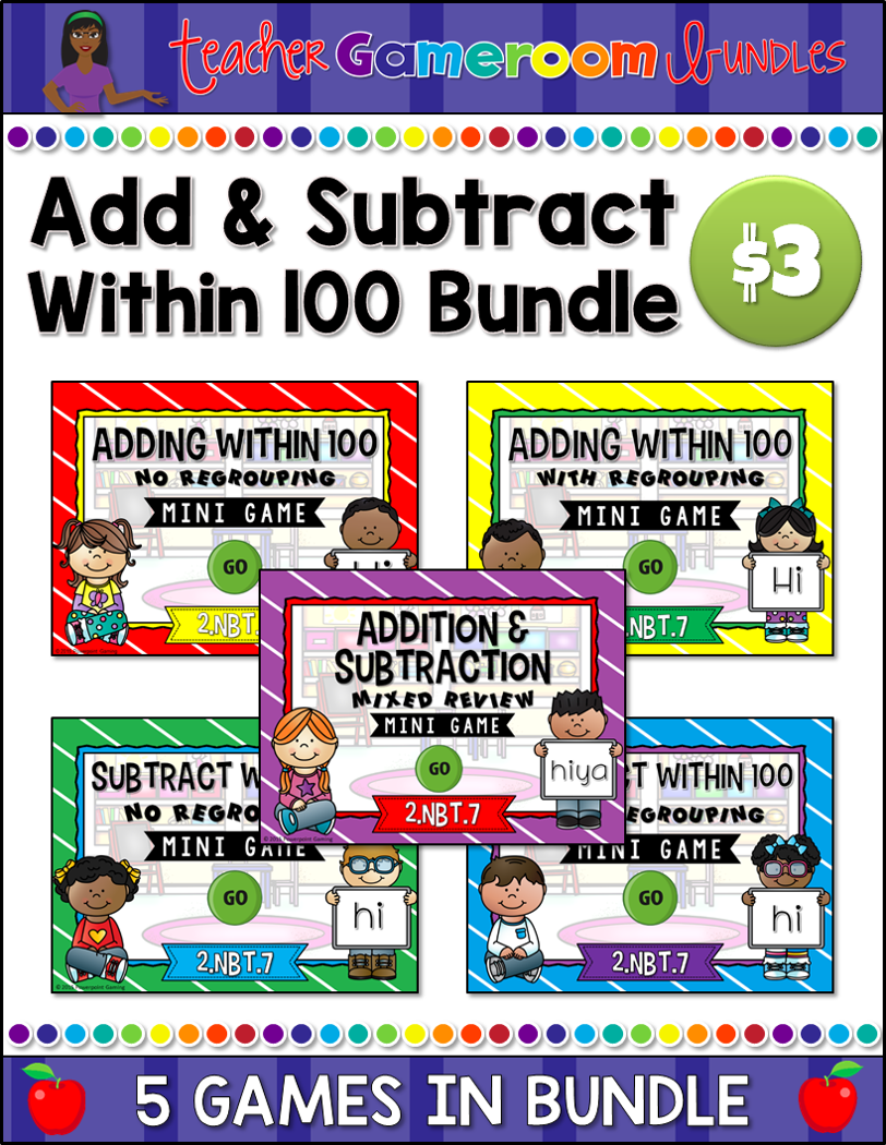 Addition and Subtraction Mini Game Bundle