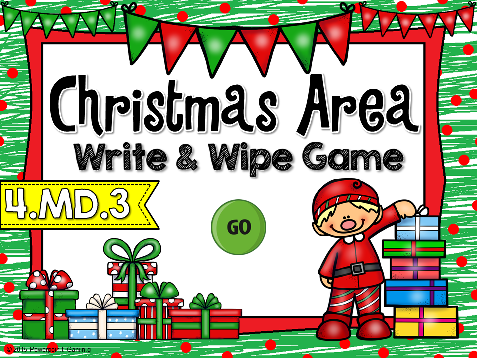 Christmas Area Write and Wipe Game