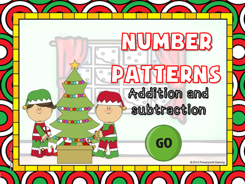 Christmas Number Patterns Teacher vs Student Game