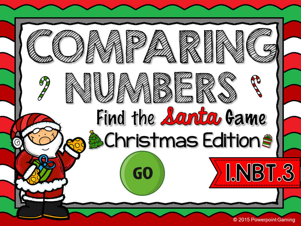 Comparing Numbers - Christmas Find the Star Game