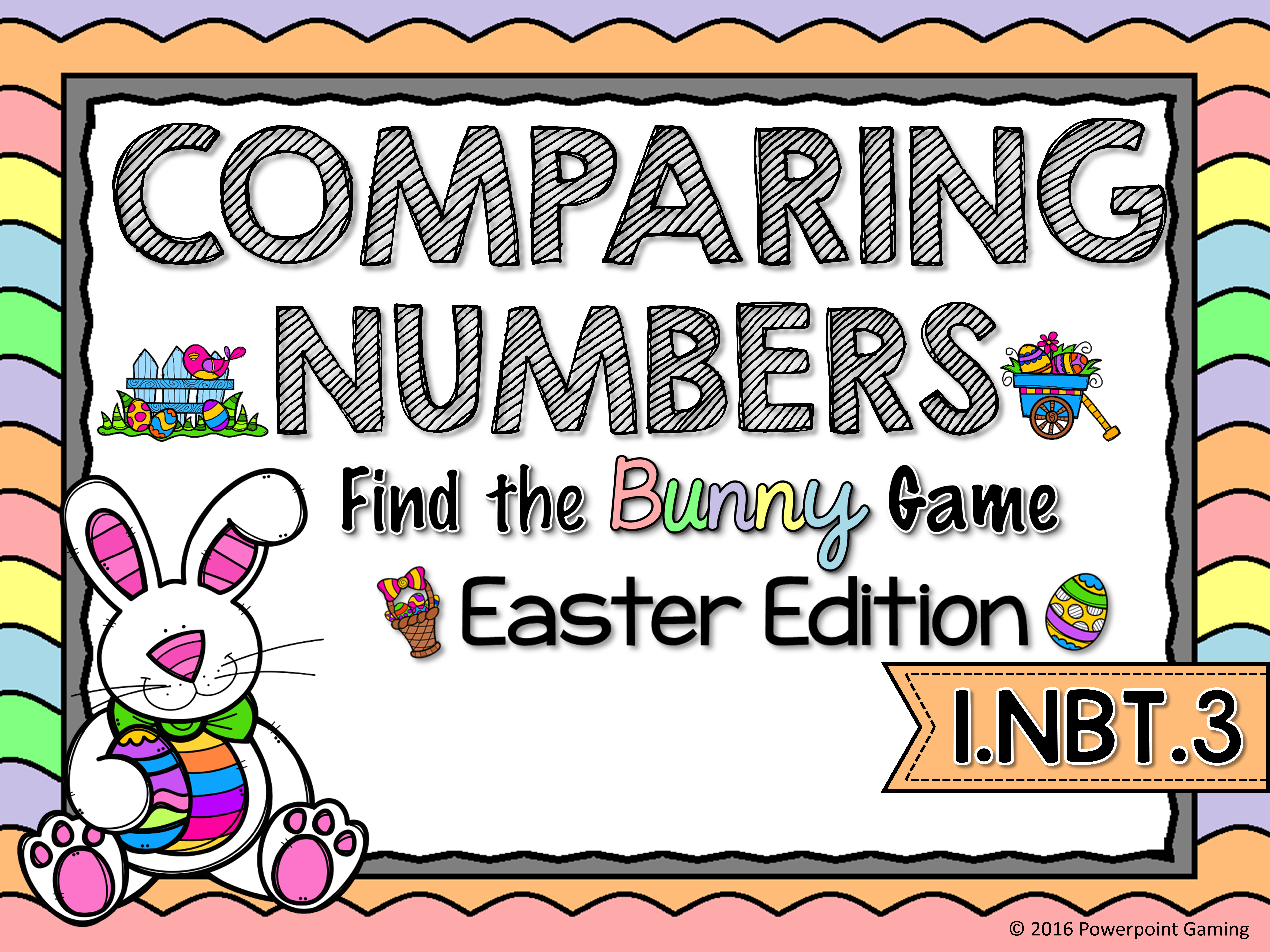 Comparing Numbers - Easter Find the Star Game