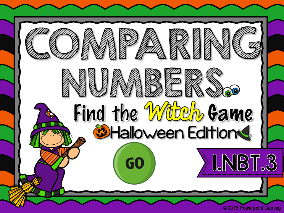 Comparing Numbers - Halloween Find the Star Game