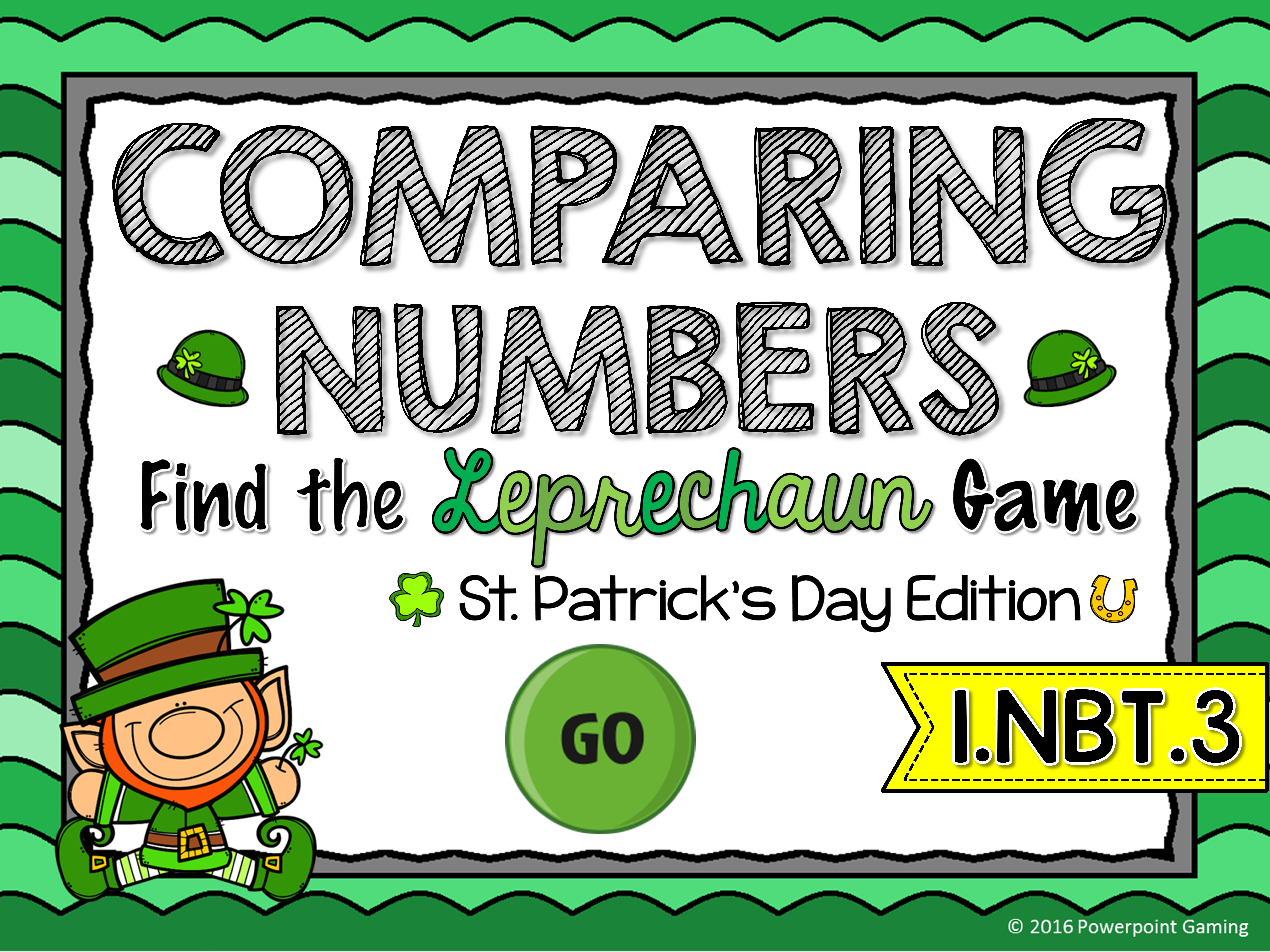Comparing Numbers - St. Patrick's Day Find the Star Game