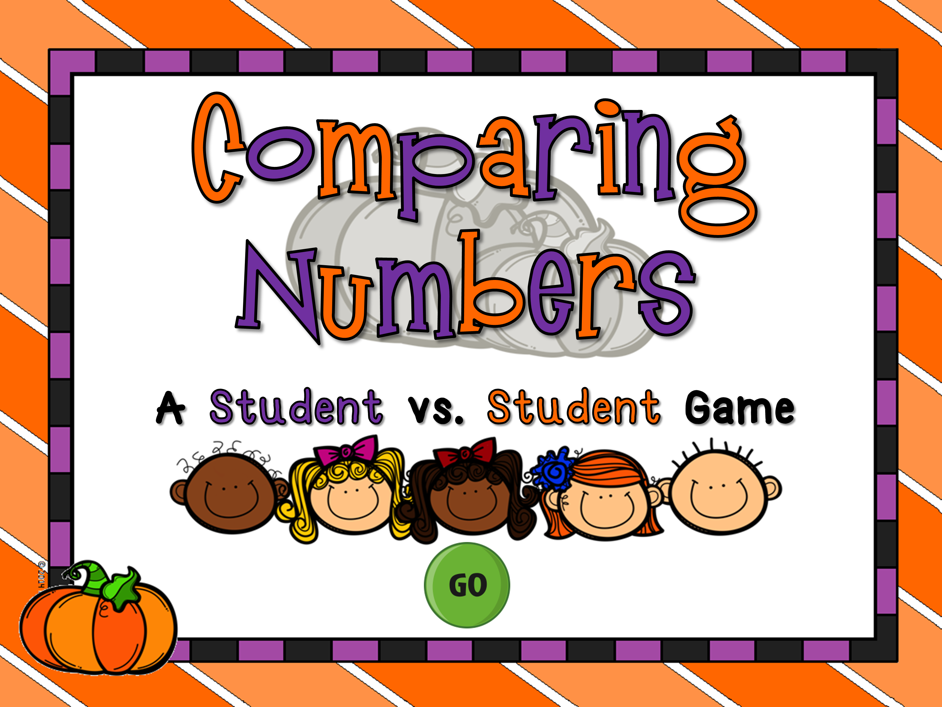Comparing Numbers Student vs Student Fall Game