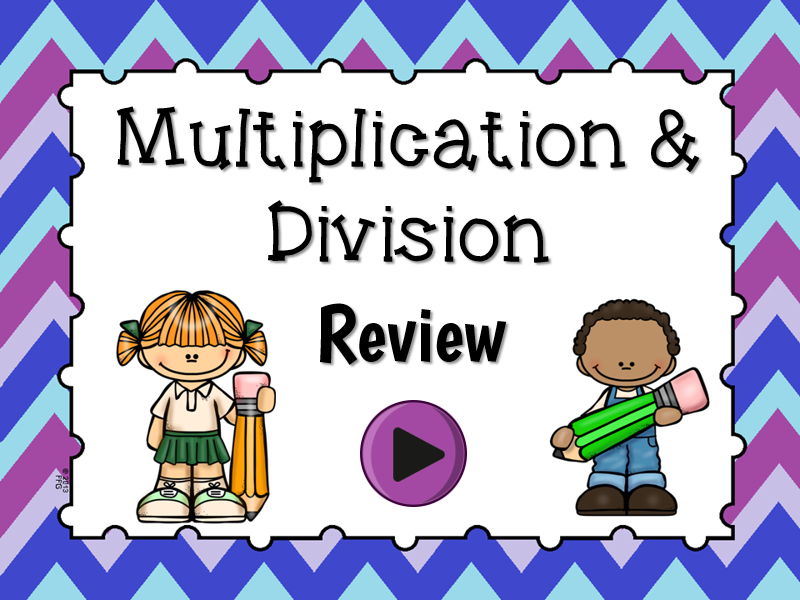 Multiplication and Division Jeopardy Game