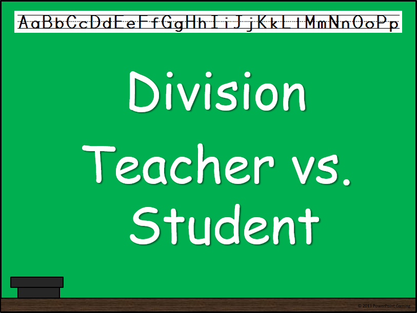Division Facts Teacher vs Student Game