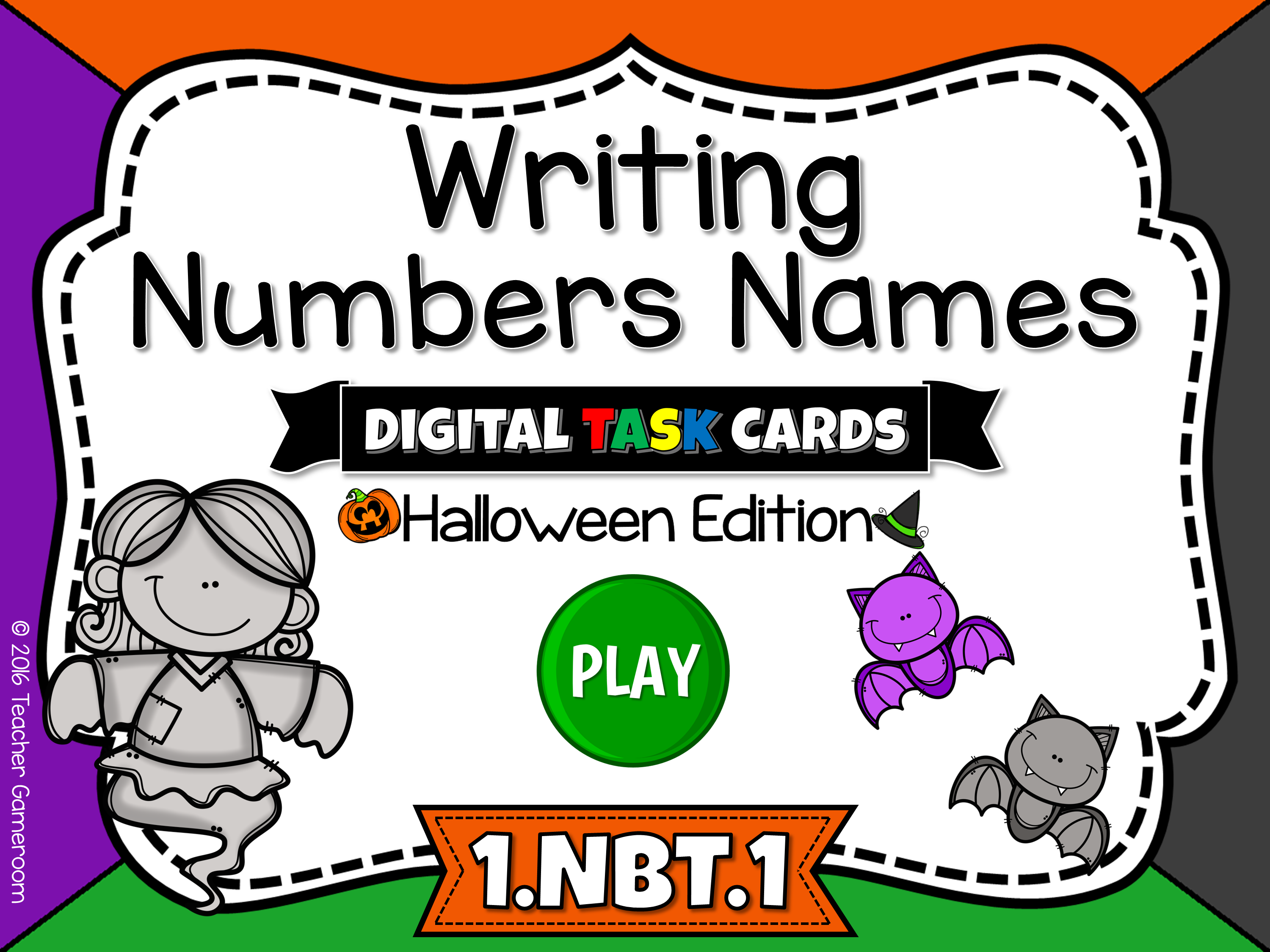Writing Number Names Task Cards