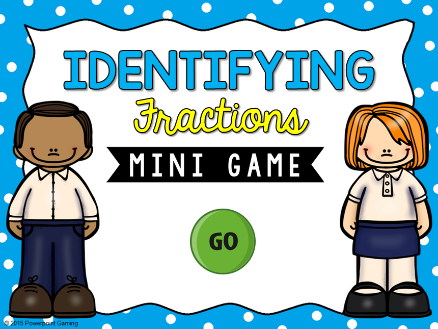 Identifying Fractions Mini Game