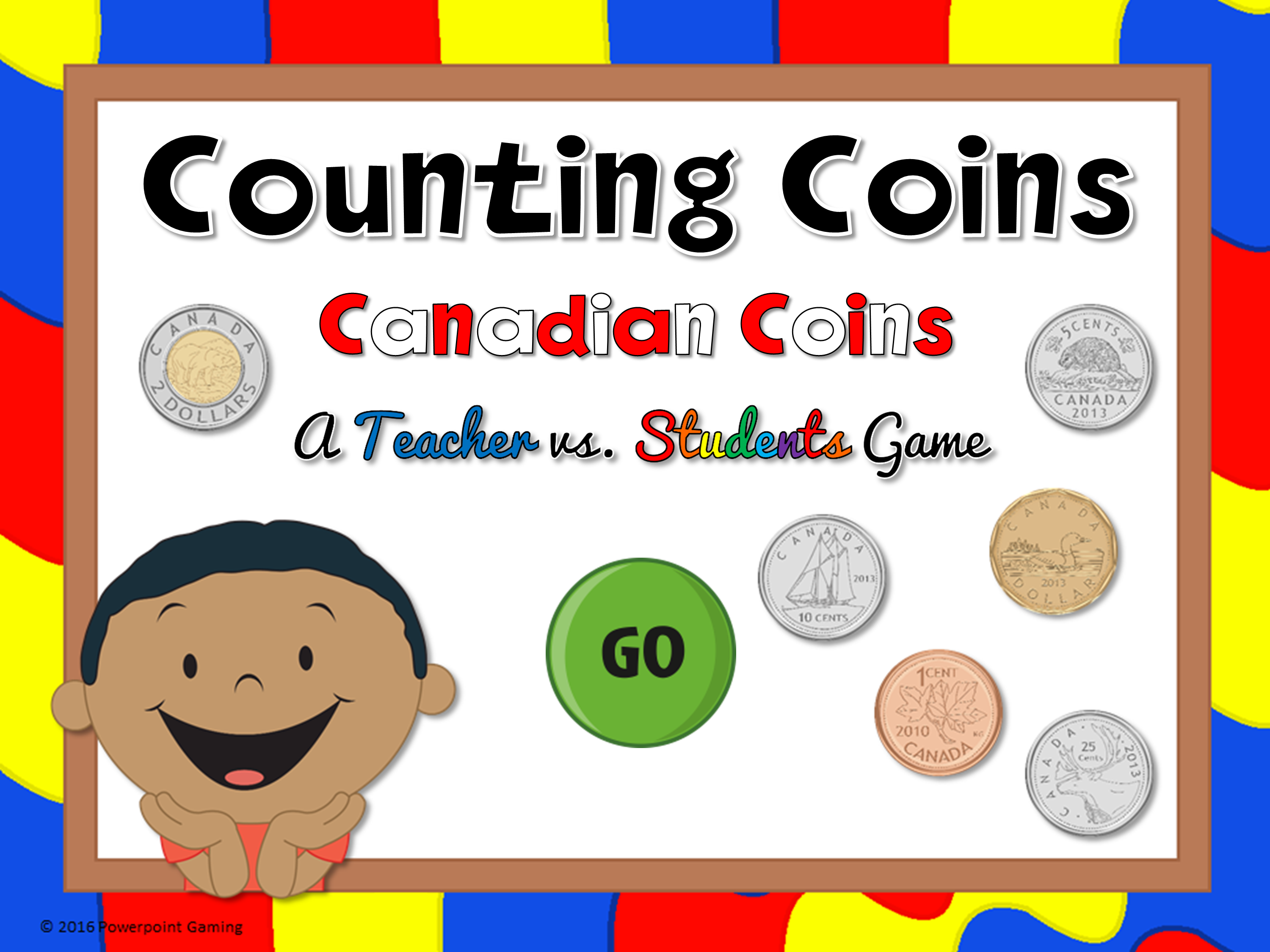 Counting Canadian Coins Teacher vs Student Game