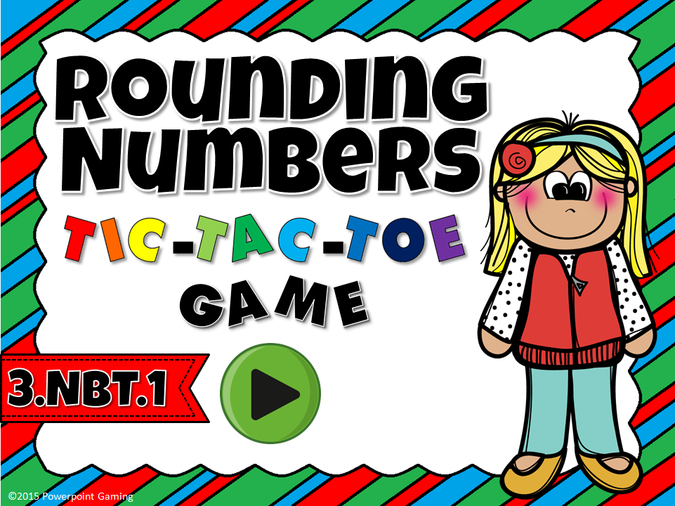 Rounding Number Tic-Tac-Toe Game