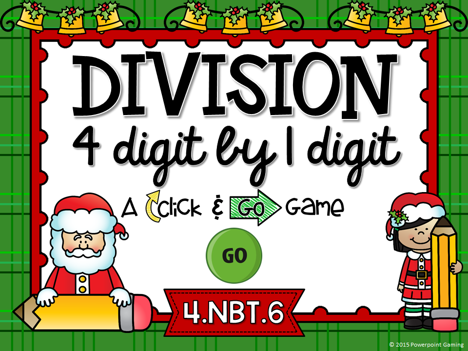 Dividing 4 Digit by 1 Digit Numbers Click and Go Game