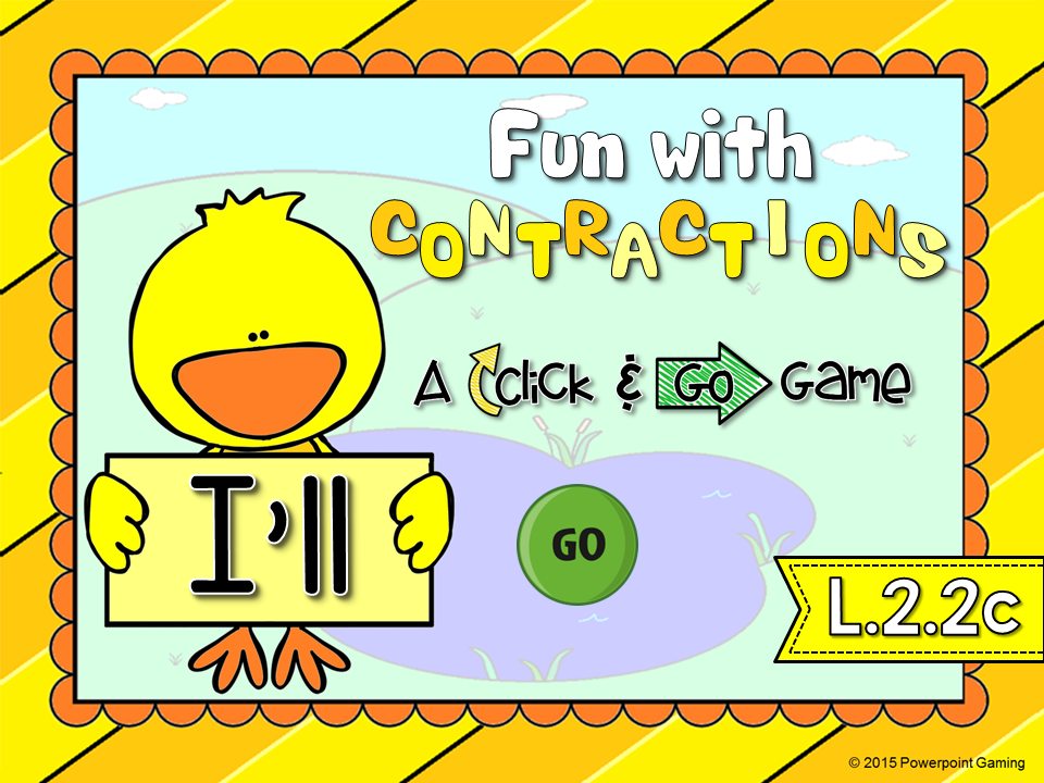 Fun with Contractions Click and Go Game