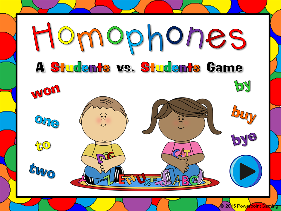 Homophones Student vs Student Game