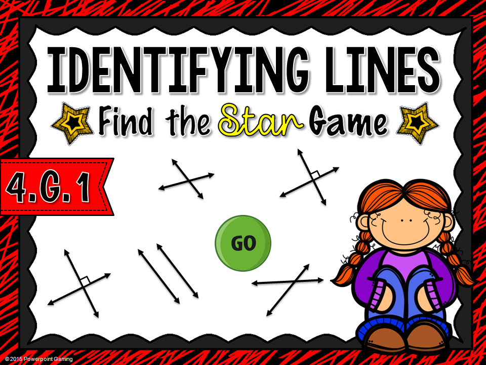 Identifying Lines Find the Star Game