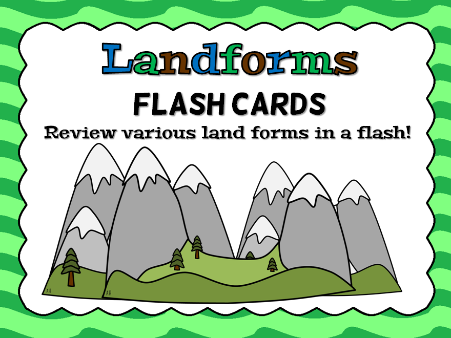 Land Forms Flsh Card Game