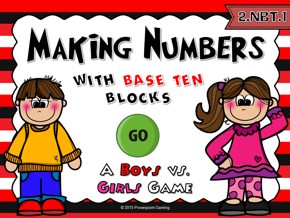 Making Numbers with Base Ten Block - Student vs Student Game