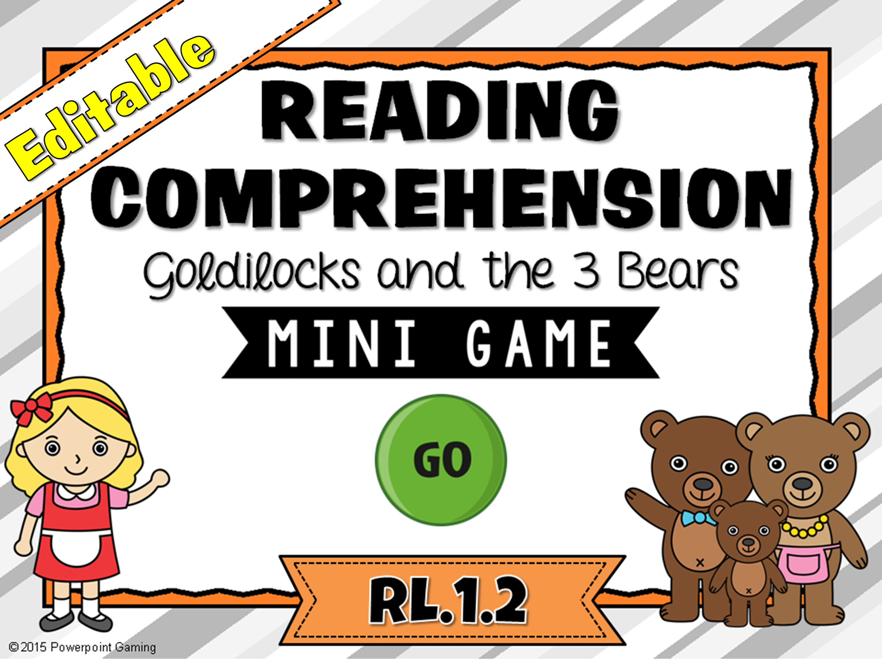 Reading Comprehension - Goldilocks and the Three Bears Mini Game