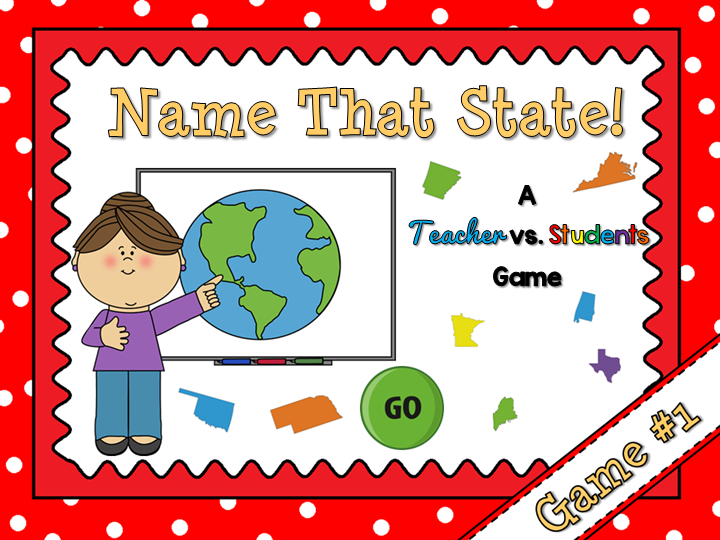 Name that State Teacher vs Student Game #1