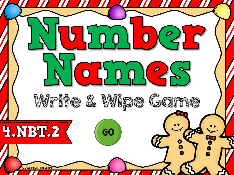 Naming Numbers Place Value Write and Wipe Game