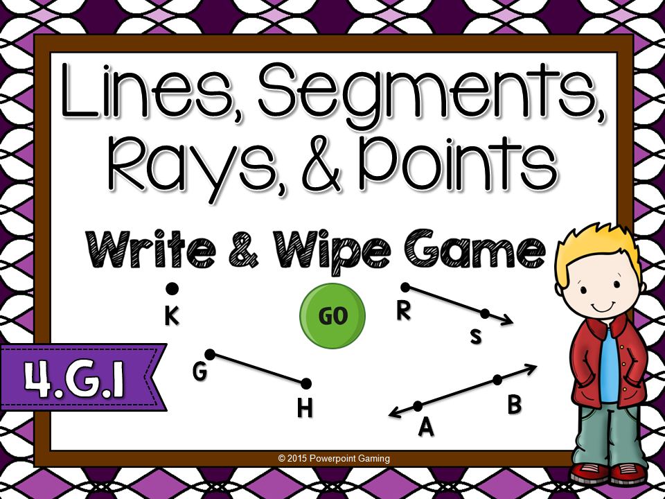 Points, Lines, and Line Segments Write and Wipe Game