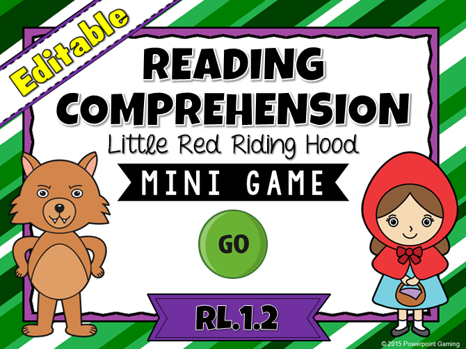 Reading Comprehension - Little Red Riding Hood Mini Game