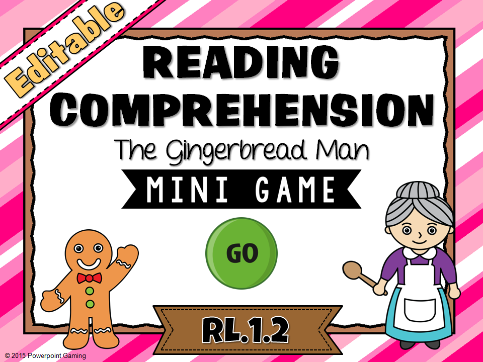 Reading Comprehension - The Gingerbread Man Mini Game