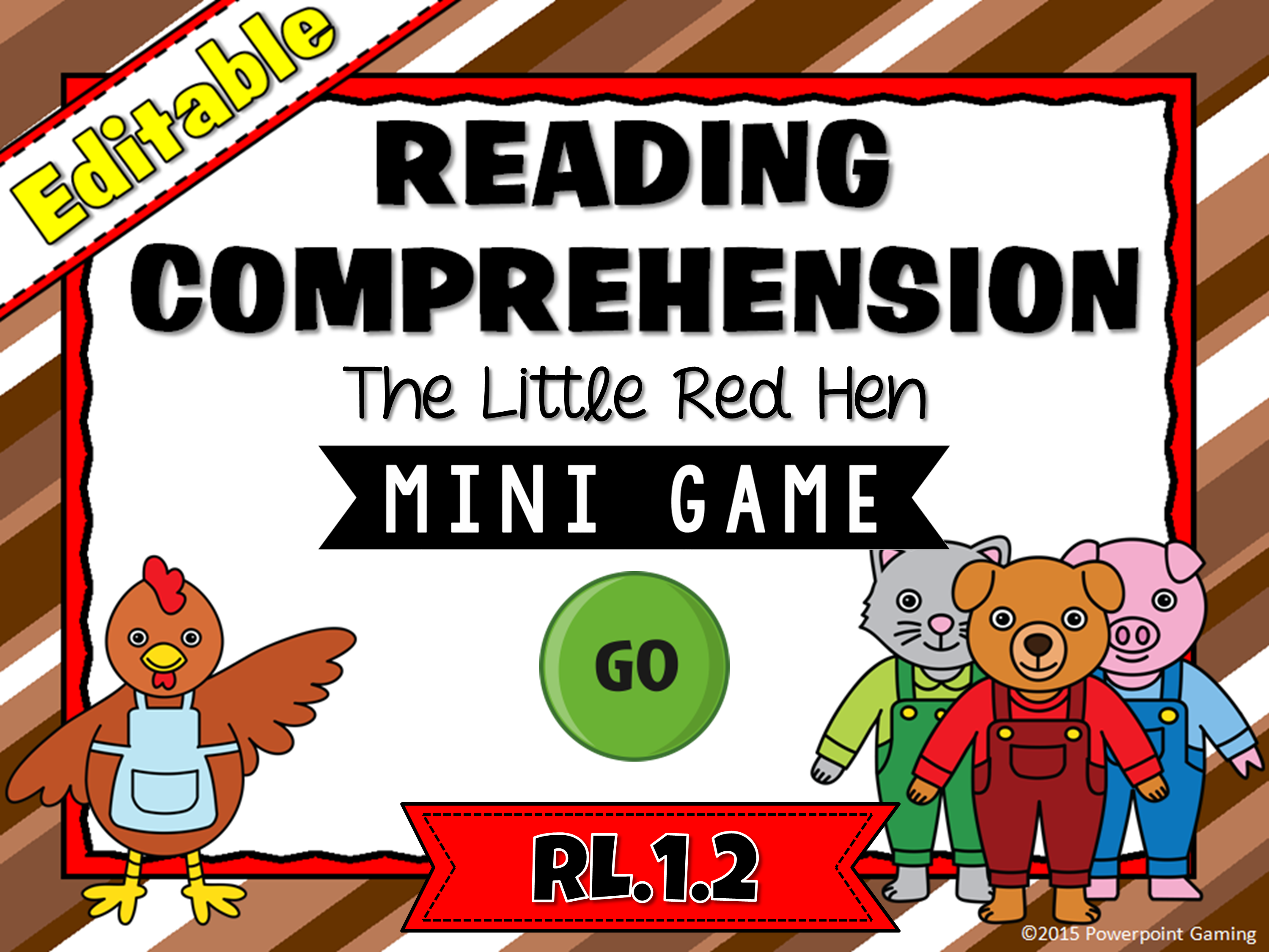 Reading Comprehension - The Little Red Hen Mini Game